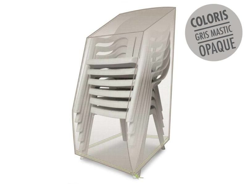 Housse de protection luxe pour piles de chaises 66 x 66 x 110 cm
