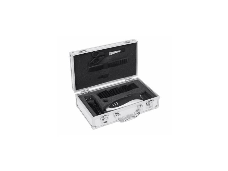 Kit complet coiffure dans une belle valise argentee btv934 black pear BLA3700659301202