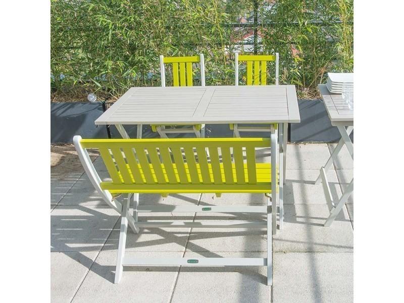 Salon de jardin en bois 4 personnes - burano - Vente de CITY ...