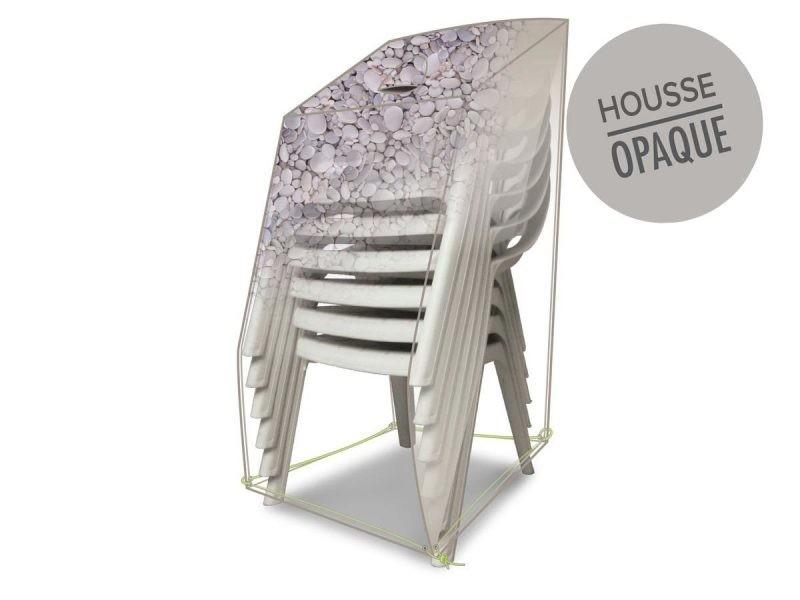 Housse de protection pour piles de chaises 66 x 66 x 110 cm galets