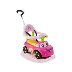 Porteur bébé smoby auto bascule rose