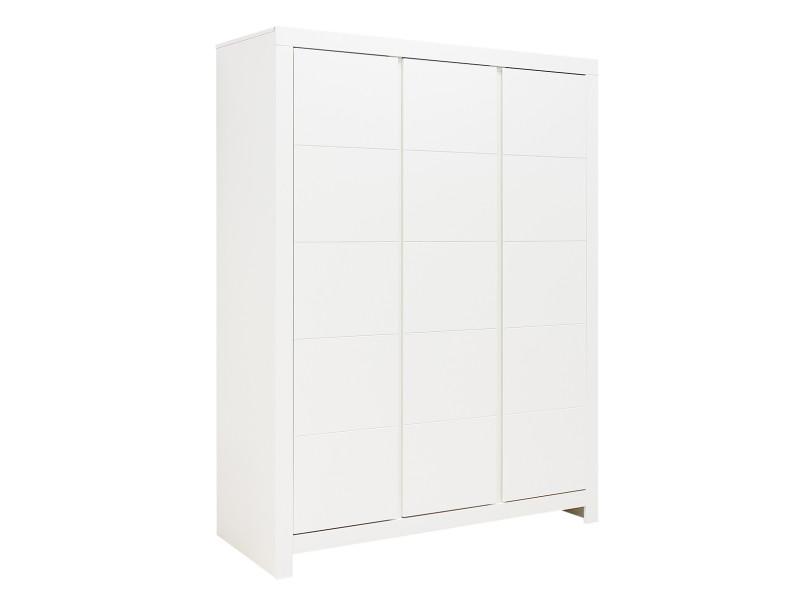Armoire 3 portes thijn blanc