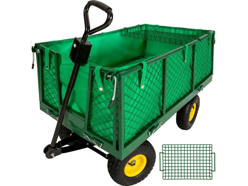 Tectake chariot de jardin 550 kg avec plateau 401418