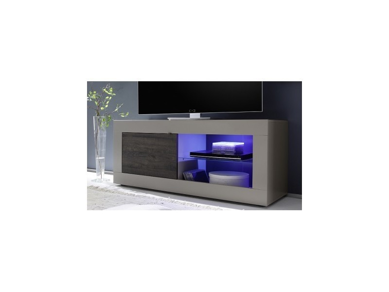 Meuble tv basic, 140 cm, taupe/wengé