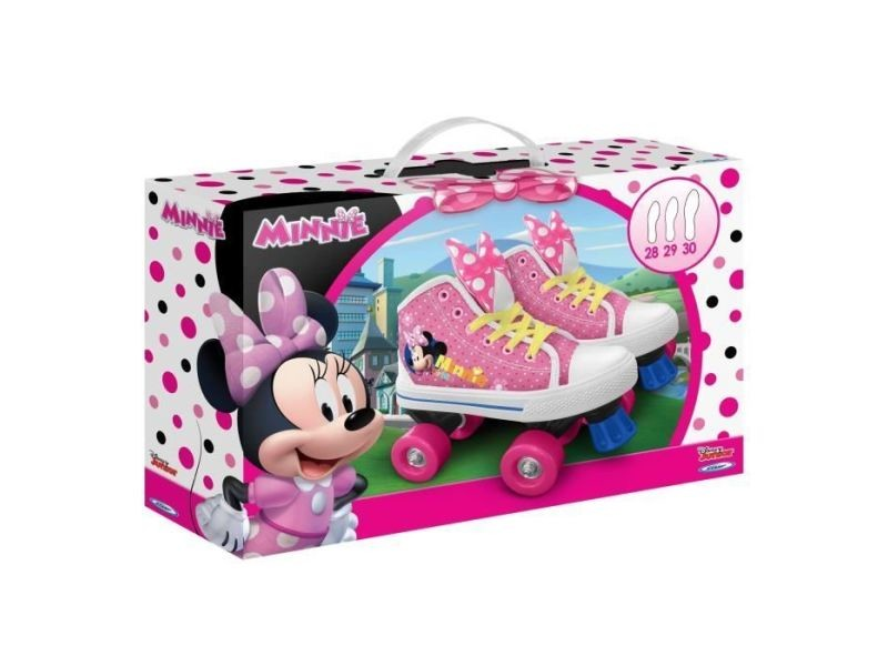 Roller in line minnie patins a roulettes quad - taille 28