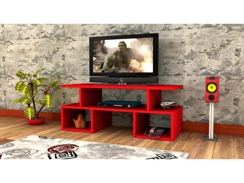 Meuble tv design twist1 rouge