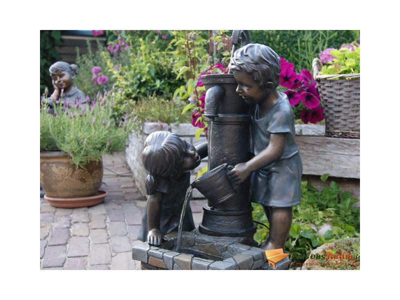 Fontaine de jardin en polyrésine aquaarte atlanta - Vente de ...