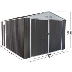 Garage metal nevada avec porte battante - 15,36 m²