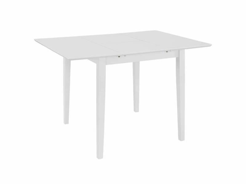 Table de salon salle à manger dîner design extensible blanc 80-120 cm mdf helloshop26 0902259