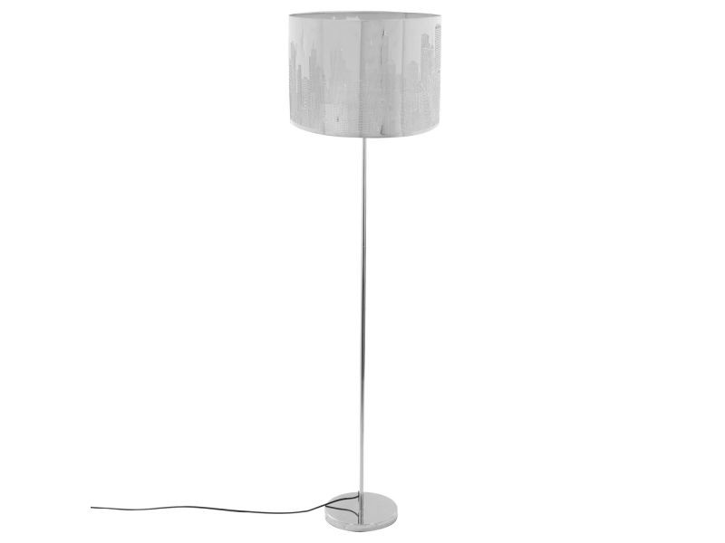 great lampadaire mtal nwyk hauteur cm argent vente de lampadaire conforama with abat jour new. Black Bedroom Furniture Sets. Home Design Ideas