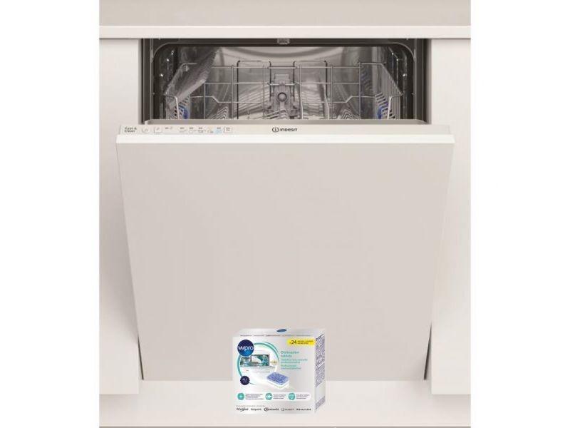 Lave-vaisselle tout intégrable encastrable 49db a+ 13 couverts 60cm 5 programmes