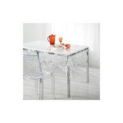 Nappe imperméable rectangulaire en pvc - 140 x 240 cm - imprimé fleurs