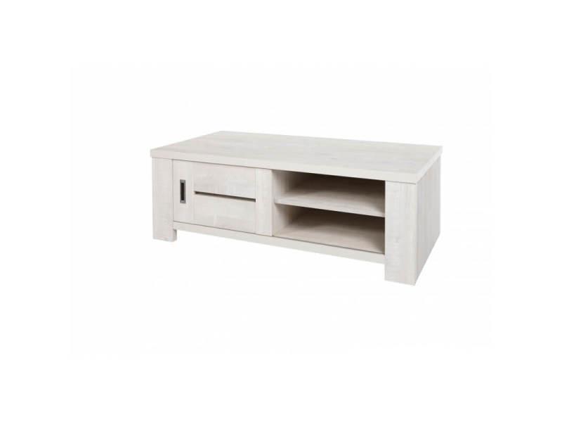 Table basse contemporaine rectangulaire chêne clair marijo