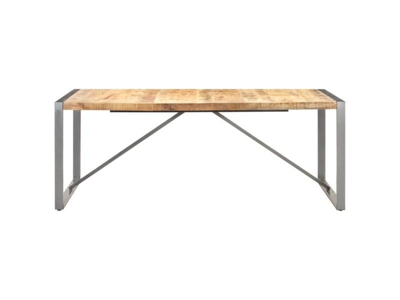 Vidaxl table à dîner 200x100x75 cm bois de manguier massif brut 321565