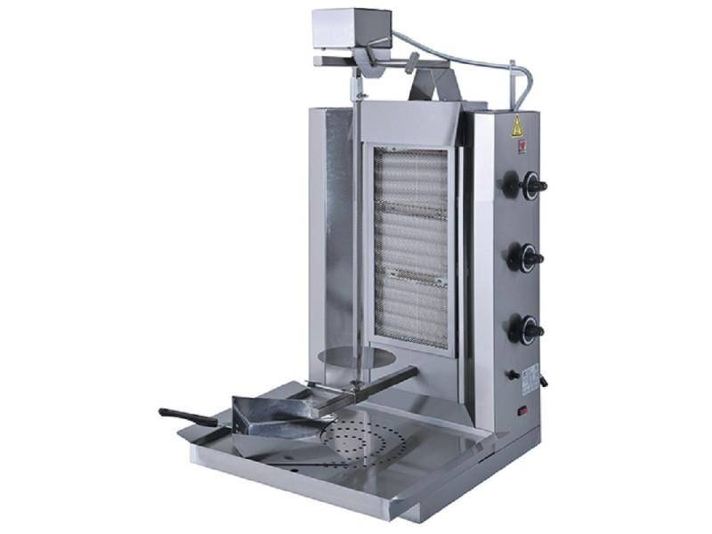 Gyros grill à gaz professionnelle - 35 kg - virtus -