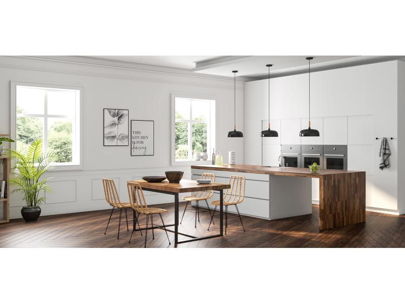 suspension en m tal noir et bois noir vente de non. Black Bedroom Furniture Sets. Home Design Ideas