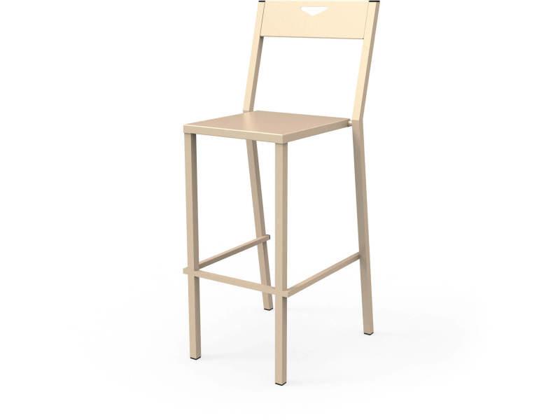 Chaise haute metropolitain beige sable hauteur 75 cm ChH_MET_h75_Sab