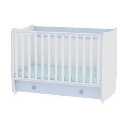 Lit bébé évolutif combiné transformable dream 60x120 bleu