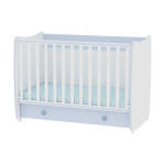 lit bb volutif combin transformable dream 60x120 bleu - Conforama Lit Bebe
