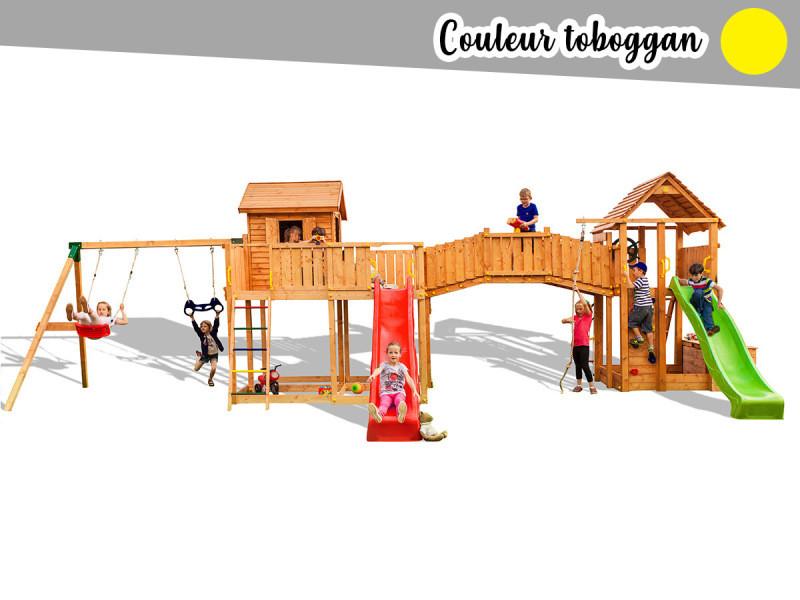 Tour de jeux pour enfants en bois traité l'ile rousse MAXI SET FUNGOO SMILE FARM