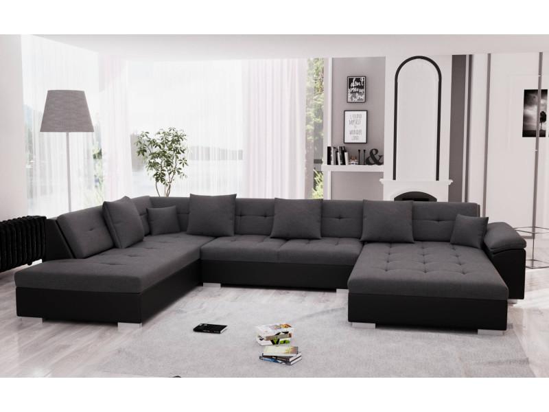 vente chaude en ligne a12be bdee2 belmont - canapé d'angle panoramique xxl en u - gauche ...