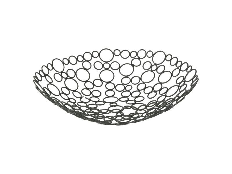 Corbeille à fruits métal - diam. 31 cm - gris