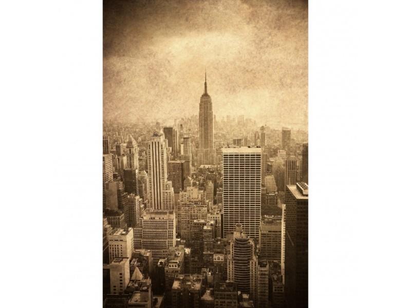 Tableau verre acrylique new york brown 40 x 60 cm