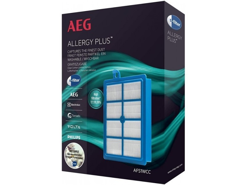 Filtre allergy plus afs1wcc pour aspirateurs ultraone, ultrasilencer aeg