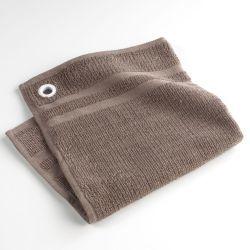 Torchon essuie-main éponge uni coquette taupe 50 x 50 cm