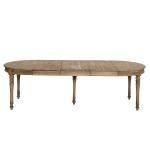 Table à manger en bois recyclé 3 allonges authentiq     khr-3 allonges