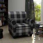 Vidaxl fauteuil en tissu noir