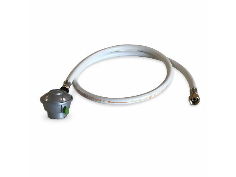 Kit tuyau flexible de gaz 1.5 m à embouts mécaniques + détendeur quick-on ø27mm - propane 37mbar 1.5kg/h. Raccord rapide – normes nf