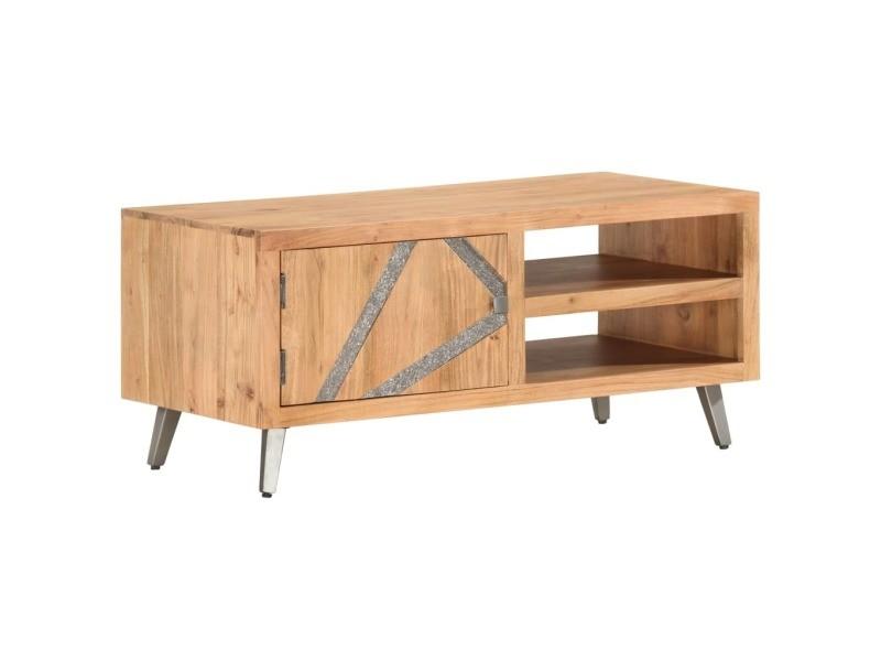 Vidaxl table basse 90x45x40 cm bois d'acacia massif 286548