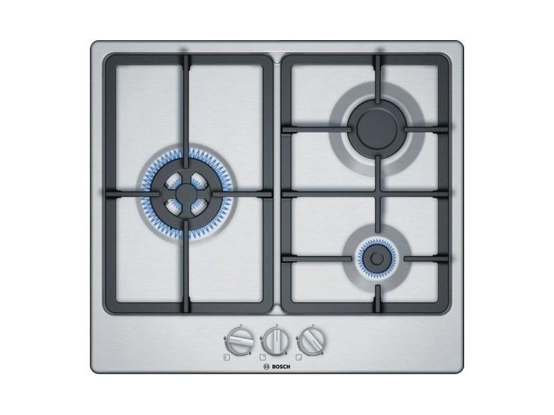 Plaques de cuisson splendide plaque au gaz bosch pgc6b5b90 60 cm (3 feux à gaz)