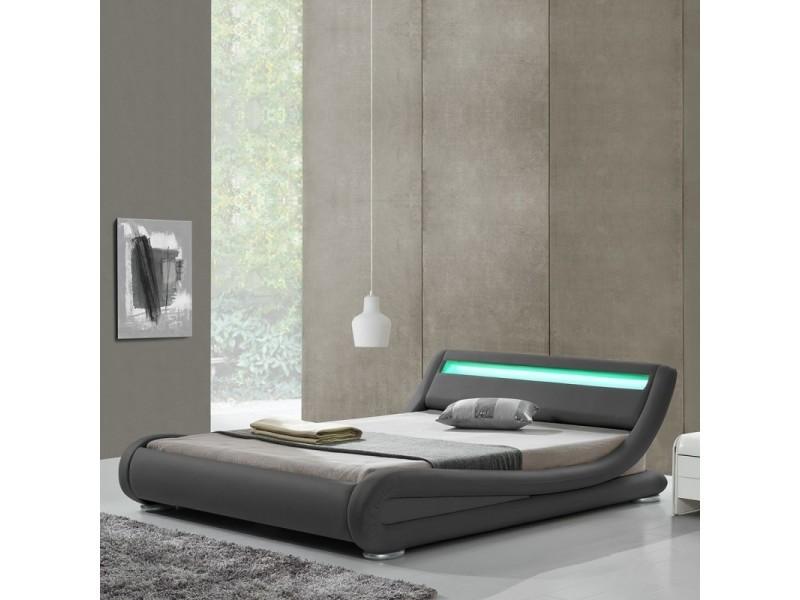 Lit design led julia - gris - 140x190