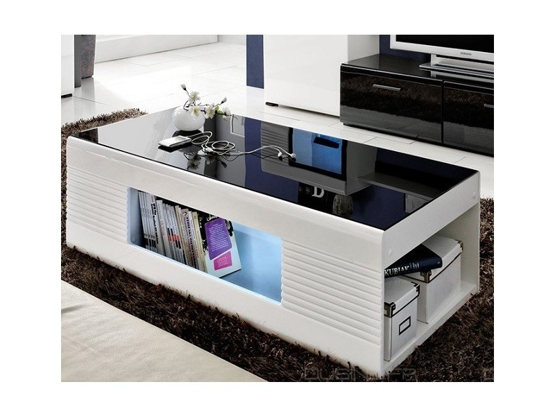 table basse illumin led et laqu neuve vente de table. Black Bedroom Furniture Sets. Home Design Ideas