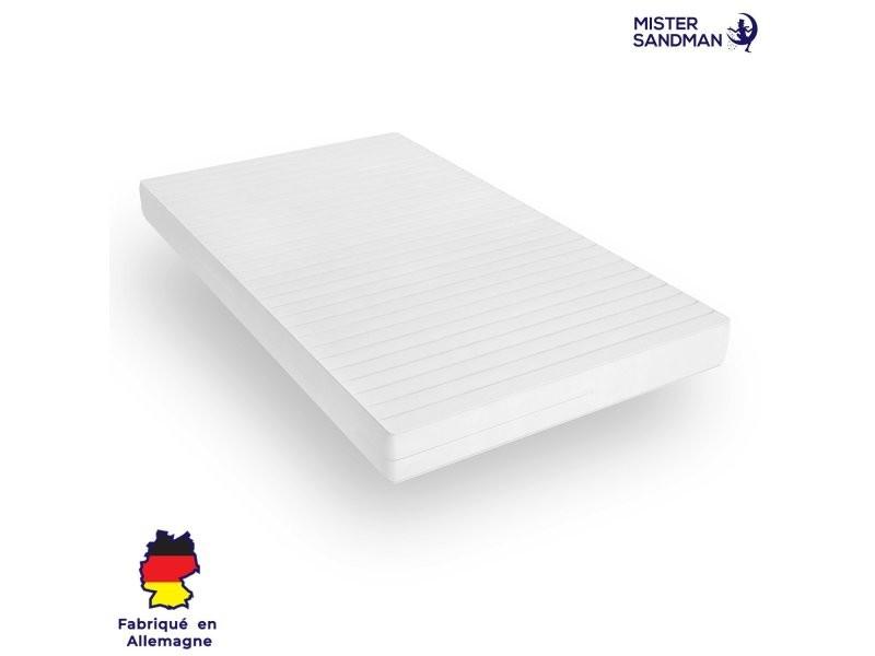 Matelas 140 x 190 cm matelas sommeil réparateur sans matière nocive confort ferme housse lavable, épaisseur 15 cm MISTER SANDMAN