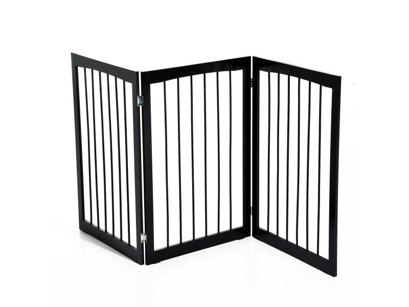 Barrière modulable pliable barrière de sécurité 160l x 76h cm mdf ...