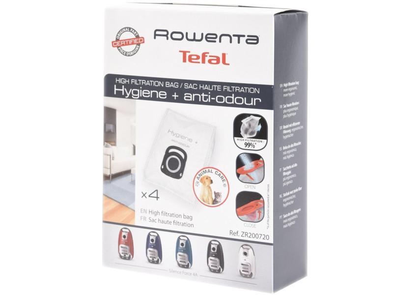 Boite de 4 sacs haute filtration aspirateur rowenta zr200720