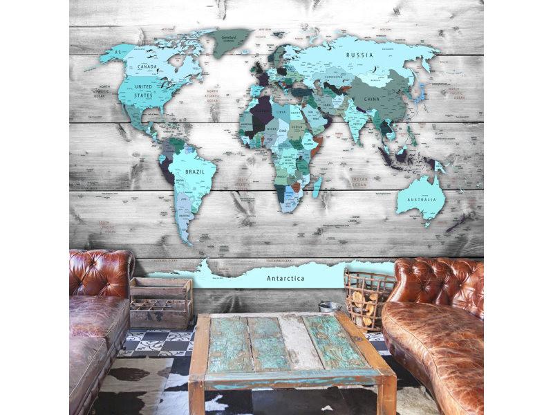 Carte Conforama Papier.100x70 Papier Peint Carte Du Monde Superbe World Map Blue