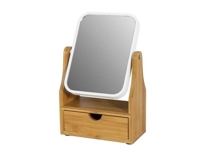 Miroir de table miroir de maquillage coiffeuse en bois ...