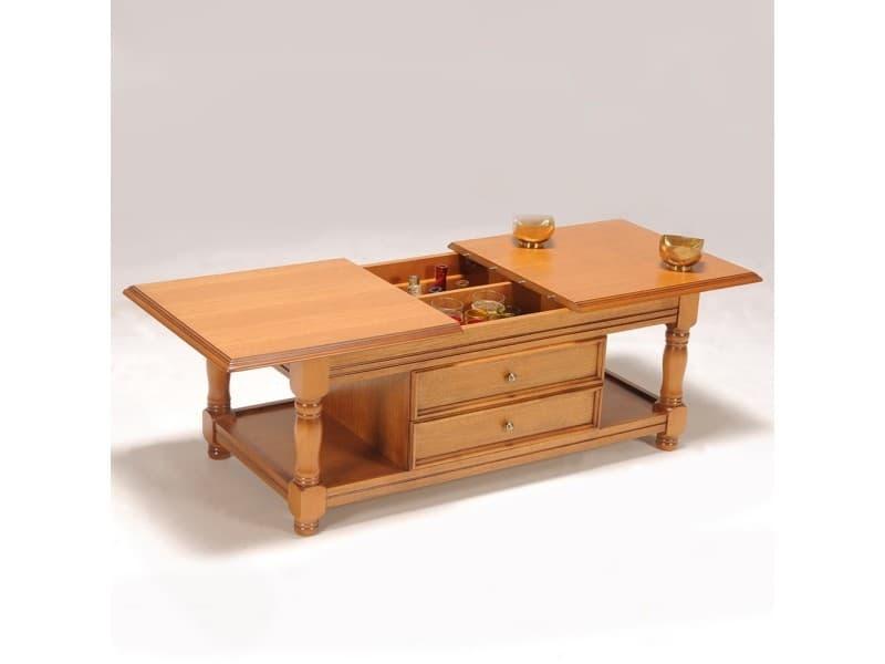 table basse bar ch ne 5224 vente de table basse conforama. Black Bedroom Furniture Sets. Home Design Ideas