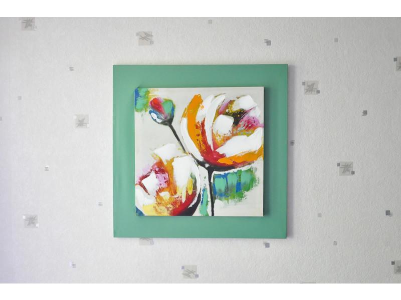 Tableau toile carrée fleur de printemps (55 x 55 cm)