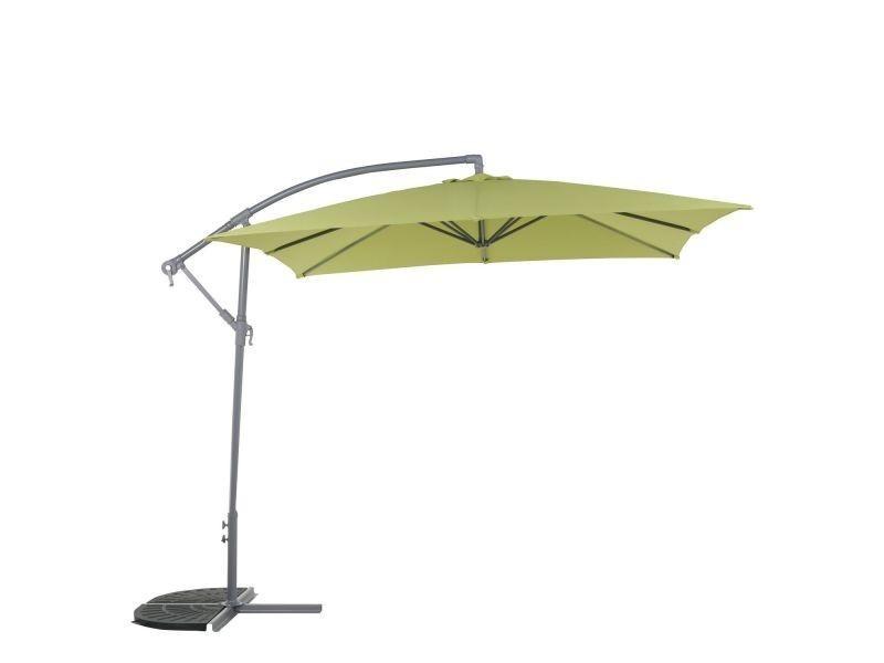 Parasol décentré hawai carré 2 5 x 2 5 m pistache vente de