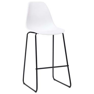 Vidaxl chaises de bar 2 pcs blanc plastique 281499 Vente