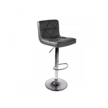 moni chaise bar tabouret haut tournant hauteur r glable gris conforama. Black Bedroom Furniture Sets. Home Design Ideas