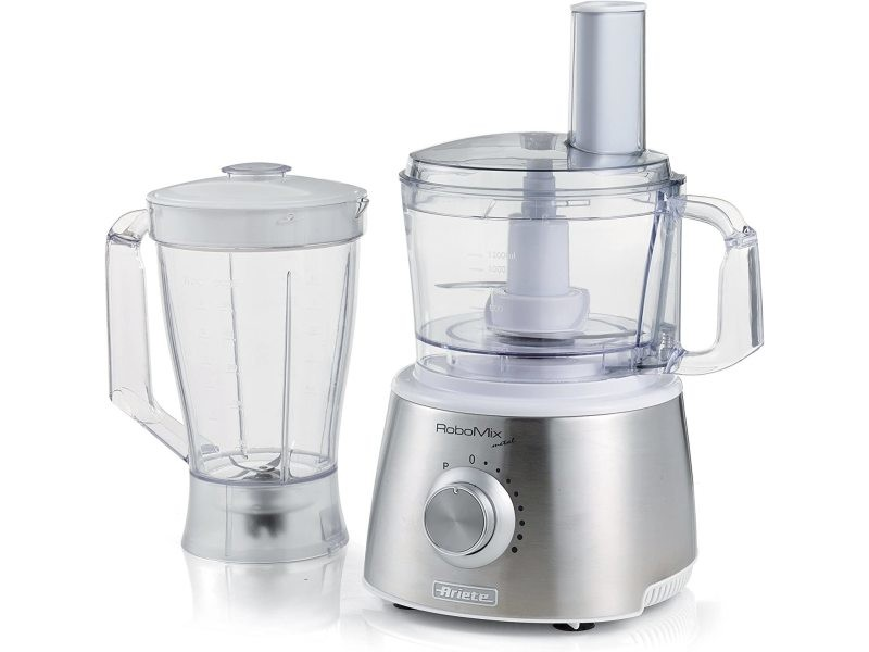 Robot de cuisine multifonctions 1500w gris blanc