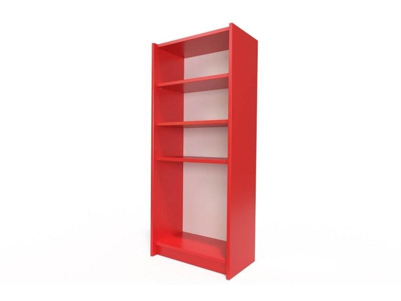 Étagère bibliothèque bois rouge ETABIB-Red