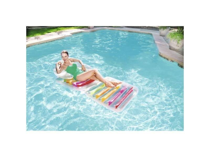 Fauteuil - chaise longue - matelas gonflable piscine matelas gonflable piscine - 201 x 89 cm