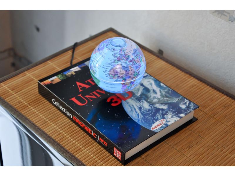 bed3a111c53473 Atlas 3d - globe terrestre géopolitique luminescent en lévitation  électromagnétique. prevnext